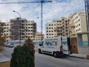 obra impermeabilización nueva edificación barrio EL BERCIAL (GETAFE)